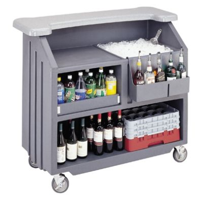 Cambro 54 In Long Polyethylene Cambar Portable Bar, Black