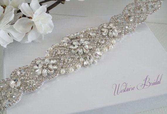 Bridal Sash Belt, Bridal Belt, Sash Belt, Wedding Dress Belt, Crystal Rhinestone Belt, Style 159