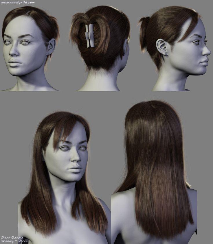 ArtStation - 4 New Hairstyles, Dani Garcia