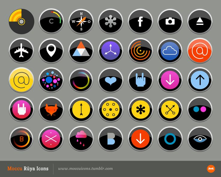 Moccu Rüya Icons are made to make your desktop look beautiful. http://moccuicons.tumblr.com/