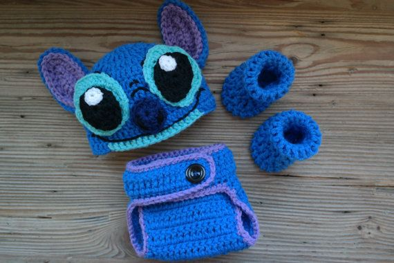 Newborn Crochet Stitch Newborn Photo Prop Outfit from Disney's