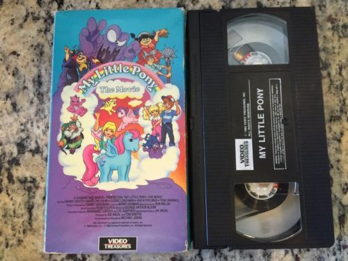 My Little Pony The Movie VHS. 1986. (United States).