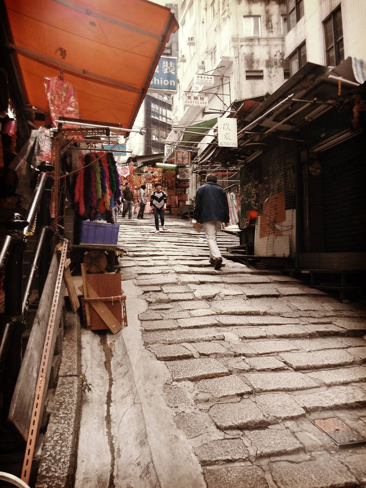 Honkong street stairs