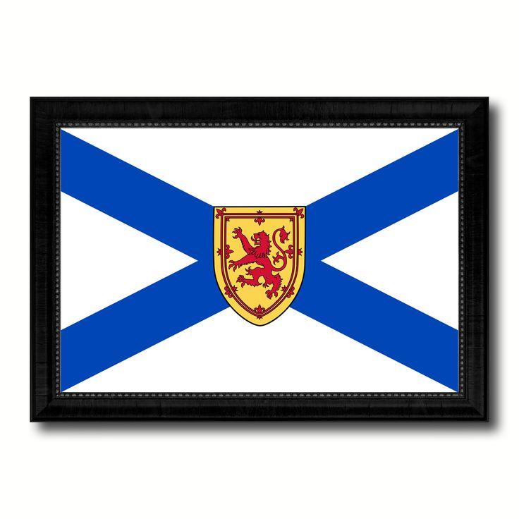 Nova Scotia Province City Canada Country Flag Canvas Print Black Picture Frame