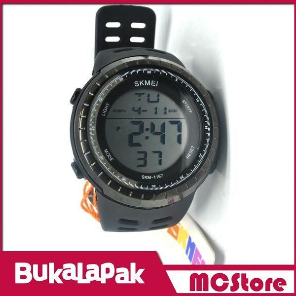 Beli MCStore Jam Tangan Pria SKMEI Sport Watch Silicone Strap Water Resistant 50m - 11671 - Black  dari MCStore habibwaldani - Jakarta Barat hanya di Bukalapak