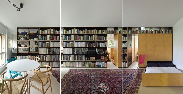 hidden: Gill Architects, Spaces, Amazing Bookshelves, Idea, Bed, Interiors, Apartment, House