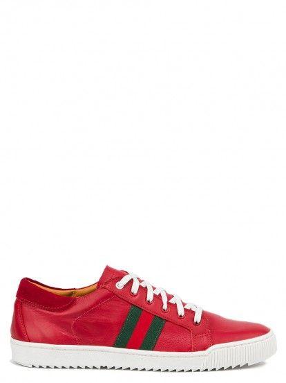 Pantofi sport din piele naturală de damă  ALEXANDER KRIST - rosu