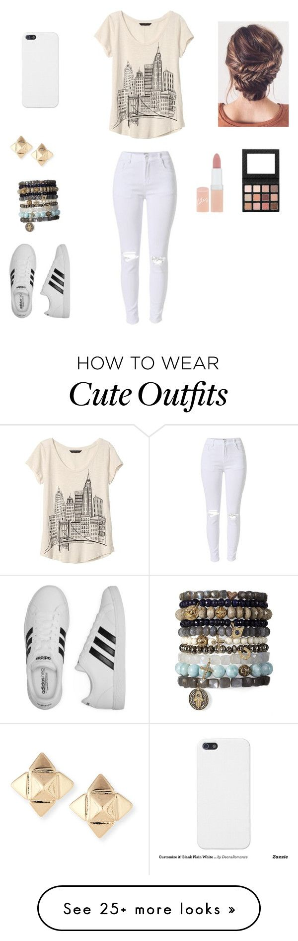 """""""Cute outfit"""" by stuff4m on Polyvore featuring Banana Republic, adidas, Valentino and Rimmel"""
