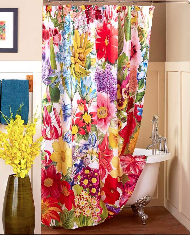 All Over Bold Multi Color Bouquet Of Garden Flowers The Rich