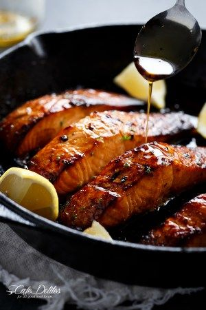Grilled Browned Butter Honey Garlic Salmon | http://cafedelites.stfi.re