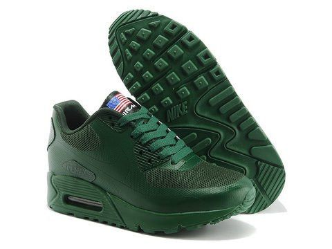 All Green Nike Air Max 90 Hyperfuse QS Womens Shoes