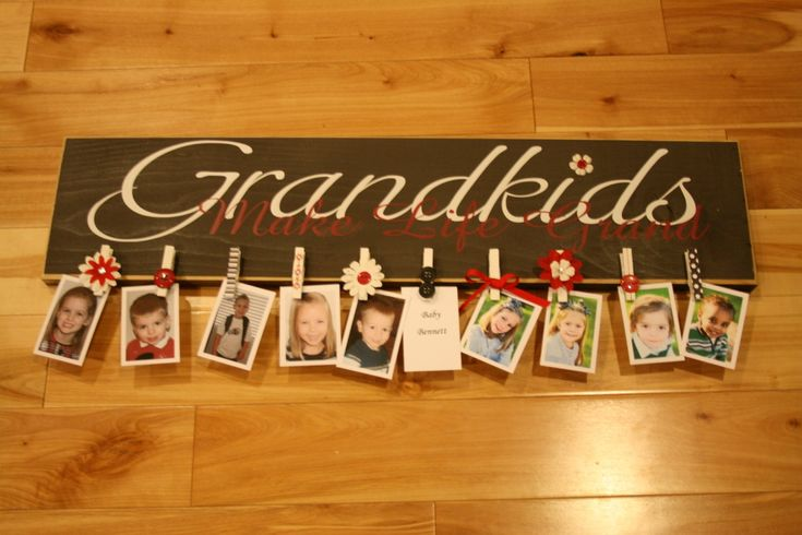 cute ideaChristmas Gift Ideas, Grandparents Gift, Grandparent Gift, Christmas Presents, Grandma Gift, Cute Ideas, Grandkids, Crafts, Christmas Gifts