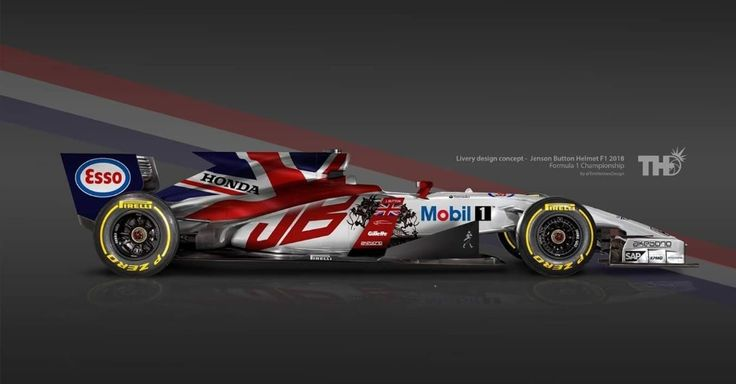 Falando em bandeiras, Jenson Button teria um carro bem britânico, como seu capacete.