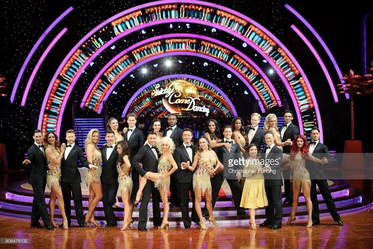 Neil Jones, Gemma Atkinson, Alijaz Skorjanec, Chloe Hewitt, AJ Pritchard, Janette Manrara, Amy Dowden, Giovanni Pernice, Debbie McGee, Ore Oduba, Joe McFadden, Katya Jones, Alexandra Burke, Gorka Marquez, Oti Mabuse, Jonnie Peacock, Susan Calman, Kevin Clifton, Nadia Bychkova, Davood Ghadami and Dianne Buswell attend the 'Strictly Come Dancing' Live! photocall at Arena Birmingham, on January 18, 2018 in Birmingham, England. Ahead of the opening on 19th January 2018. The live show will be…