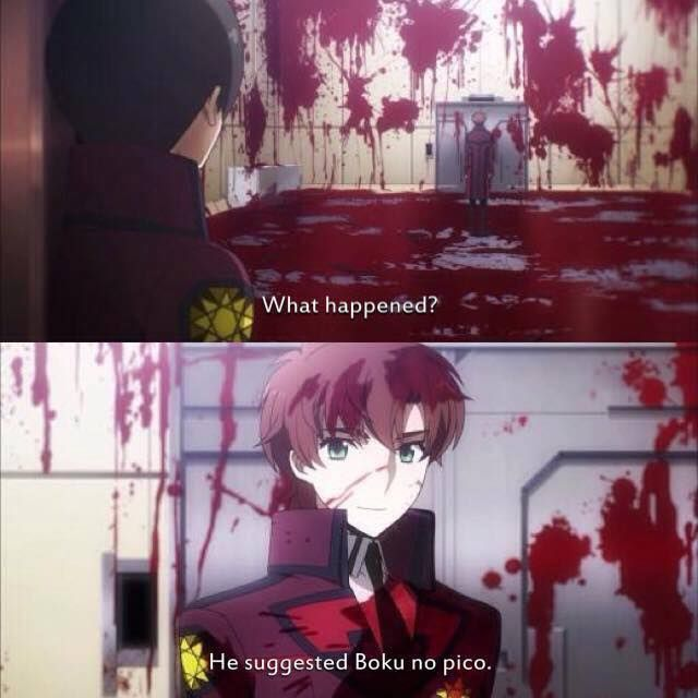 When someone suggests boku no pico...... (anime: mahouka koukou no rettousei)