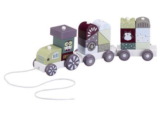 Nydelig klossetog i lakkert treverk fra Pumpkin Baby serien til Kids Concept. Dette tretoget er 36cm langt og har 19 klosser. Treleker fra Kids Concept er fine til lek og som innredningsdetalj og pynt på barnerommet.