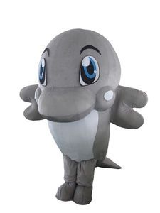 Cartoon mascot costumes,Lovely Dolphin advertising animal mascot,,theme party costumes