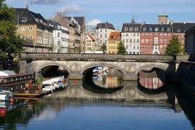 The canals inner city of Copenhagen