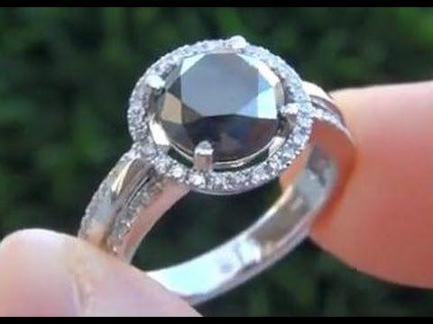 Exotic Black Diamond Engagement Wedding Ring - $2 Million Dollar Estate ...