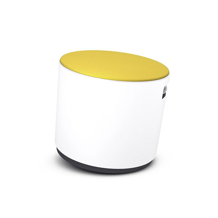 White Buoy With Yellow Seat | Modern Office Furniture | Poppin