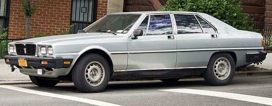 "1986 Maserati QPIII Maserati Quattroporte is a luxury four-doorsaloon made by Maserati in Italy. The name translated from Italian literally means ""four doors"". There have been six generations of this car."