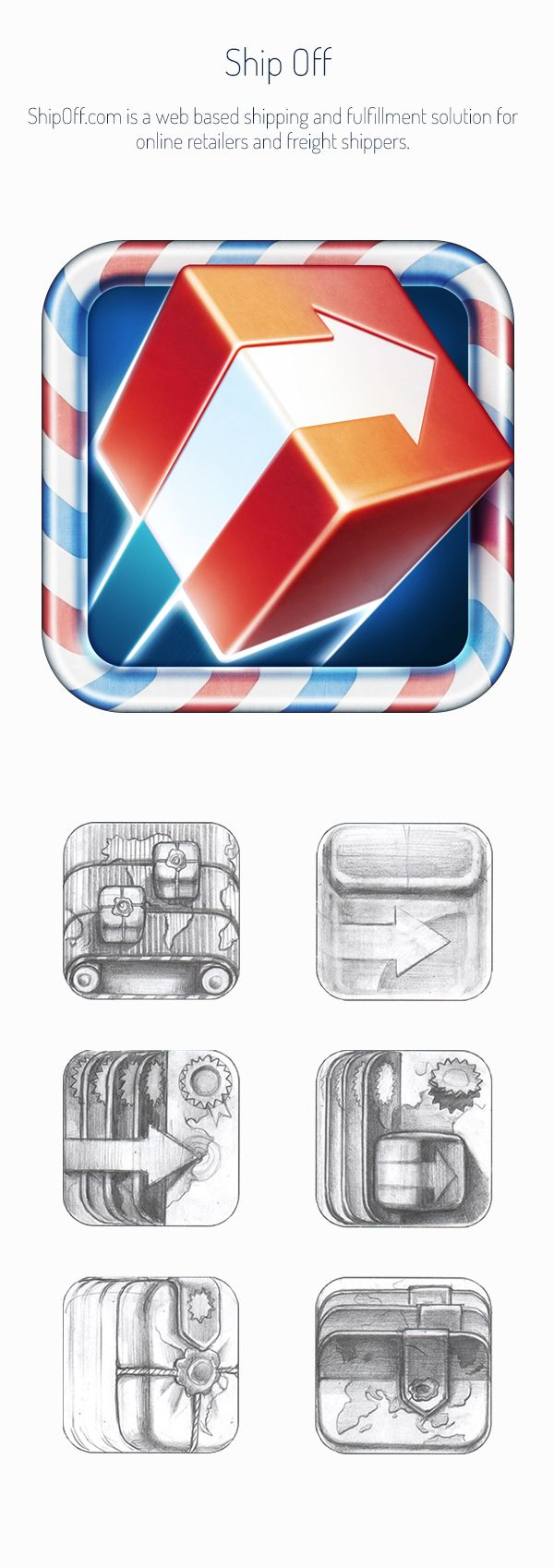 Realistic iOS App Icons by Ramotion Inc., via Behance