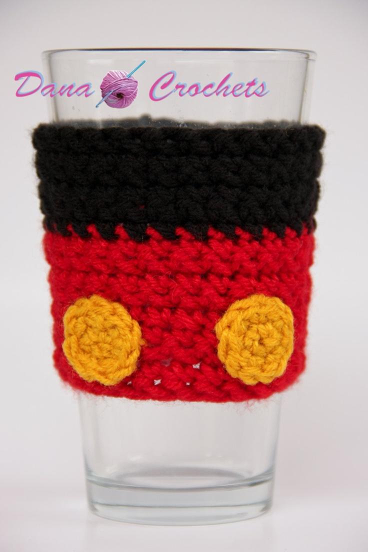 Crochet Mouse Pants Coffee Cup Cozy by Dana Crochets. $10.50, via Etsy.