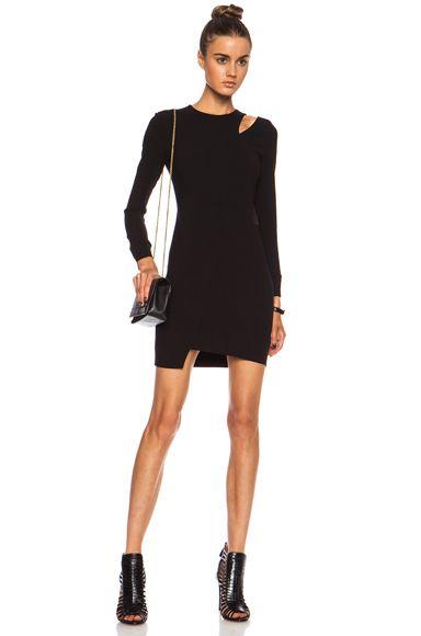 IRO Polina Acetate-Blend Dress in Black | FWRD