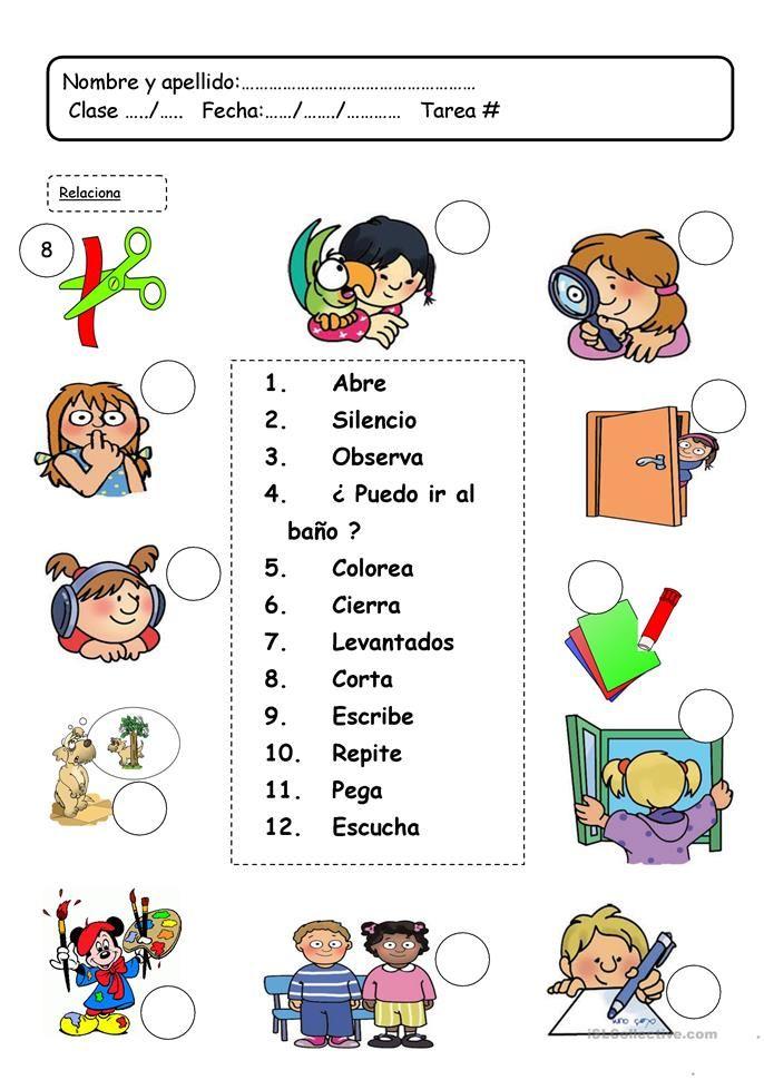 Lenguaje En El Clase Faaliyetler Pinterest Spanish Class