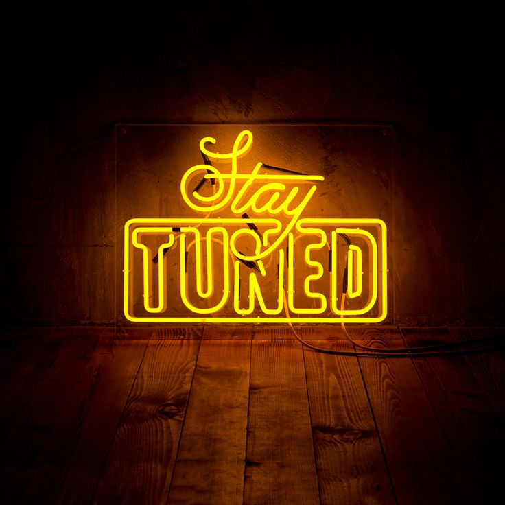 L Tune Stay Tuned Album Cover Artwork On Behance Design 3D Neon Signs Neon Quotes Neon