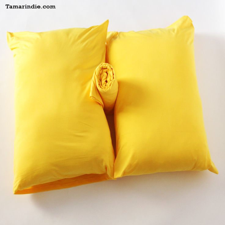 Yellow T-shirt Fabric Bed Sheets #DoubleBedSheets