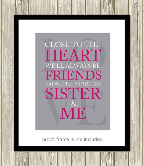 Wall Art Quotes For Sisters : Best images about sisters wall art on set