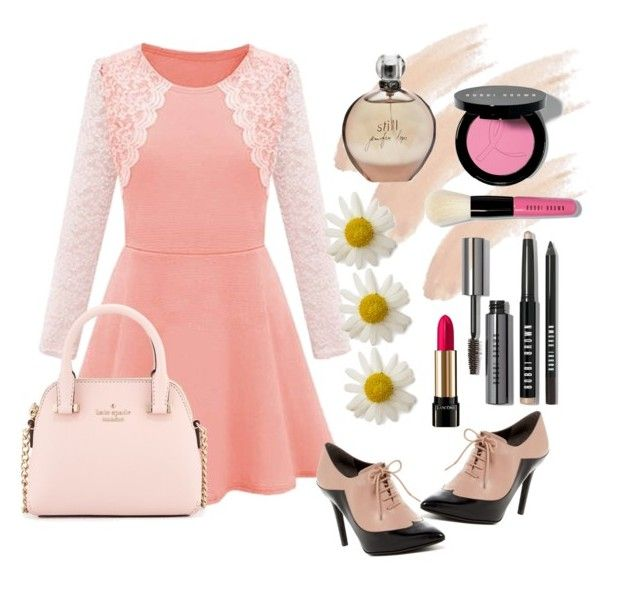 Untitled #23 by lauralionels on Polyvore featuring polyvore fashion style Sigerson Morrison Kate Spade Bobbi Brown Cosmetics Topshop Lancôme JLo by Jennifer Lopez clothing