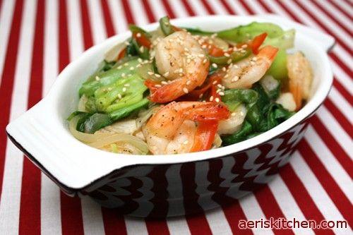 Shrimp & Bok Choy DeopBap | Aeris Kitchen | Cooking Korean Recipes & Food
