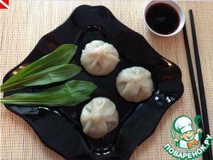 Цяоцзы-китайские пельмени с черемшой