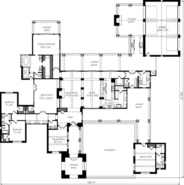 17 best images about floor plans on pinterest for Southern living detached garage plans