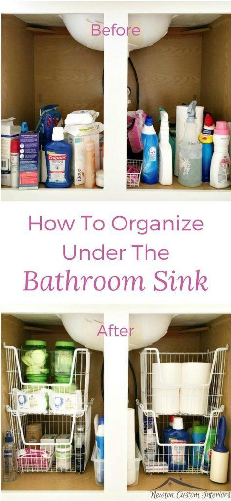 So organisieren Sie unter der Spüle – #bathroomsi…