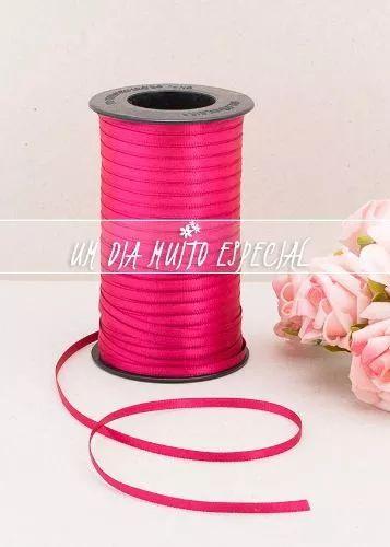 fita cetim rosa pink dupla face 4mm 100m casado frete grátis