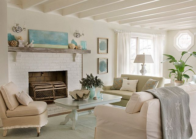 Living Room Coastal Living Room Decor The Walls Are Benjamin Moore Morning
