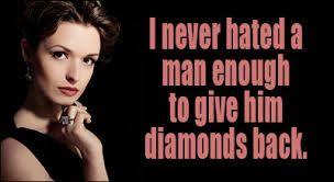 Lol! We never give #diamonds back :)