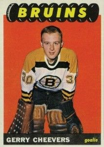 After Phil Esposito, the Gerry Cheevers rookie card was the highest valued first year hockey card in the 1965-66 Topps set.