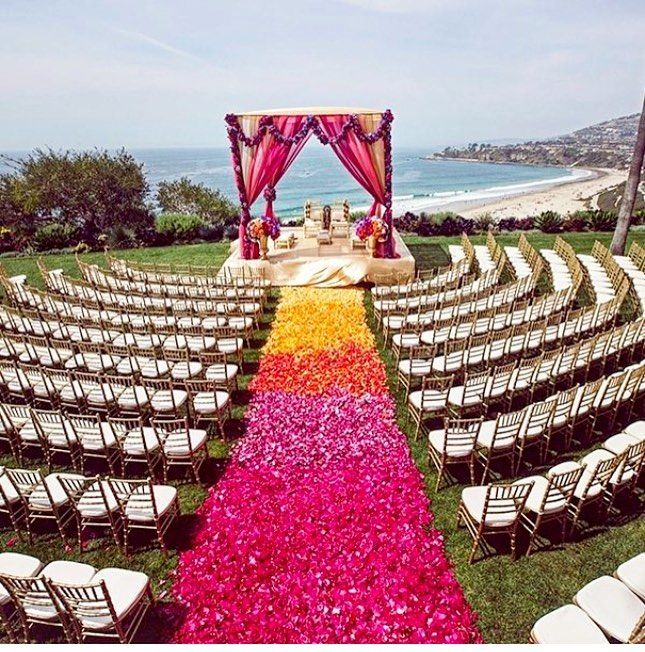 Mind Blowing Aisle Decor: Anyone Else Think This Ombre Flower Petal Aisle Is Mind