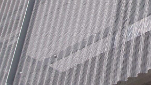 Decoration Services Wish Perforated Corrugated Metal And