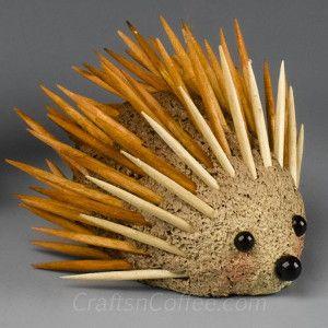 Pokey Hedgehog Craft | AllFreeKidsCrafts.com
