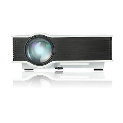 Uvistar Vidéoprojecteur UC40 Multimédia LCD Mini Projecteur LED Portable Projecteur avec Interface de HDMI / AV / USB / SD / VGA pour les…