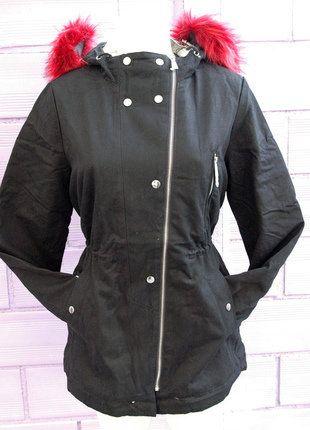 À vendre sur #vintedfrance ! http://www.vinted.fr/mode-femmes/parkas/26685342-parka-manteau-veste-femme-interieur-double-noir-col-fourrure-bordeaux-taille-xl