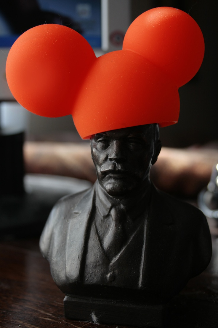 sexual revolution ;) Lenin wearing Yooo (by Fun Factory) silicone cap :))