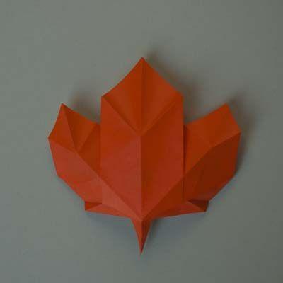 424 best origami leaves images on pinterest origami flowers maple leaf mightylinksfo Gallery