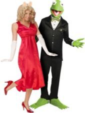 Miss Piggy and Kermit The Frog Muppets Couples Costumes - Party City