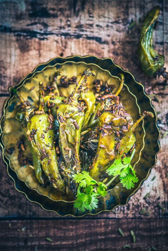 With that wonderful flavour of fennel seeds, spices and the tinge of spiciness granted by chilli, Saunfia Mirchi tickles your taste buds! #Indian #Vegetarian #Pickle #Accompaniment #Rajasthani